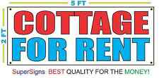 2x5 COTTAGE FOR RENT Banner Sign