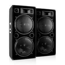Coppia Casse Acustiche Cassa Subwoofer Impianto Audio Set Professionale 3000 W