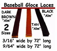 """20 laces, 3/16"""" by 72"""" ~ Tan ~ Baseball Glove ~ Relace and Repair Leather"""