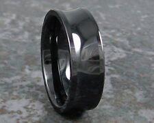 Black Ceramic Band Wedding Ring Titanium weight Men's