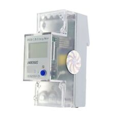 5-65A 220V 60Hz Single Phase Reset To Zero DIN-rail Kilowatt LED Hour kwh Meter