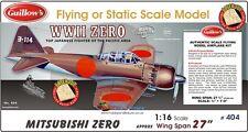 Guillows 1:16 scale MITSUBISHI ZERO Balsa Laser Cut Kit # 404