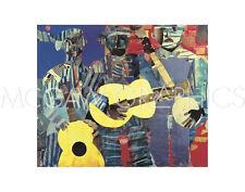 BEARDEN ROMARE - THREE FOLK MUSICIANS, 1967 - ART PRINT POSTER (1002)
