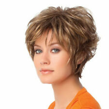 Women Natural Looking Wig Fashion Wigs Short Brown Pixie Cut Popular Wig Hair