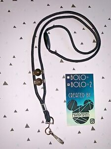 "BOLO+2 ""Black""  Inspired By Disney Cast Member Exclusive Bolo, Pin Rope Lanyard"