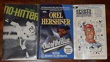 LOT OF (3) BASEBALL PAPERBACK BOOKS NO HITTER OREL HERSHISER SPORTS SHORTS