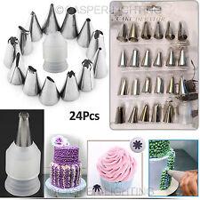 24Pcs Boquillas Puntas Set pastelería de decoración de pasteles Cupcakes Sugarcraft un. Glaseado tuberías UK