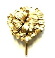 Boucher Flower Brooch Layered Gold Tone Signed Numbered P8911 Vintage