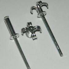 100 SPREIZNIETEN 4,8x14 Alu/Stahl SPREITZNIETEN mit Flachkopf