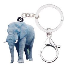Acrylic Jungle Elephant Keychain Ring For Women Kid Bag Decor Jewelry Charm Gift