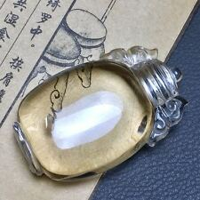 "35g Collection-Fine Carving Clear White Rutile Quartz Inside Quartz ""PINGANPING"""
