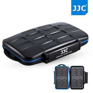 JJC Water-resistant Anti-shock Storage/ Memory Card Case Hard for 8SD+8MSD cards
