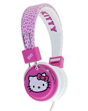 "HELLO KITTY Headphones ""Fuzzy Bow"" - Folding Design - Pink Headphones (ages 8+)"