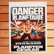 STEVE MCQUEEN YEAWORTH AFFICHE ORIGINALE BELGE 35 X 55 CM DANGER PLANETAIRE
