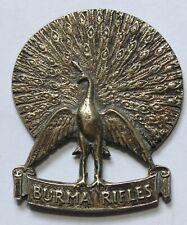 Burma Rifles Original Badge Colonial Commonwealth India