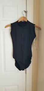 Eurotard Adult Style 44518 XL Black Zipper Front Leotard NEW