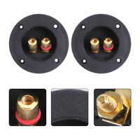 2pcs 2-Way Speaker Box Terminal Spring Cup Connectors Subwoofer Plugs for Car