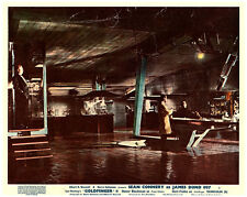 Goldfinger original lobby card Sean Connery on laser table Gert Froebe watches