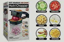 Nutri Chopper 5-in-1 Handheld Kitchen Slicer, Just Squeeze & Chop As Seen On TV
