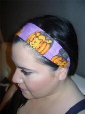 HANDMADE Halloween Cat On Purple Fabric* Women Headband Hair Accessory Hair Band