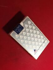Vtg 1960's 70's Delta Air Lines Playing Cards NEW SEALED Gray & White Triangles
