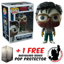 FUNKO POP STRANGER THINGS STEVE WITH BANDANA EXCLUSIVE + FREE POP PROTECTOR