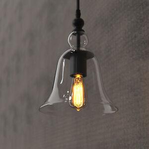 Nordic Glass Pendant Light Luxury Chandelier Minimalist Bedroom Kitchen E27