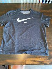 Mens Nike Dri FIt Black Athletic Shirt Size XXL 2XL Performance Workout Gym Run