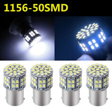4x 1156 BA15S 50-SMD Car Backup RV Tail LED Light Bulb 1141 1073 1003 Cool White
