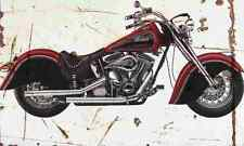 Indian Chief 1999 Aged Vintage SIGN A4 Retro