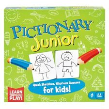 Pictionary Junior Board Game Drawing Childrens Kids Challenge Family Skill Guess