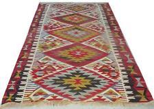 "Turkish antique pastel vintage oushak  earth colors carpet rug kilim 9' 8"" x 5'"