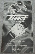 VINTAGE RARE TISSOT WATCH CATALOG FEATURING AUTOMATIC NAVIGATOR 14K CIRCA 1950'S