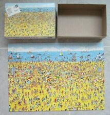 Vintage 1989 Where's Waldo On the Beach 100 Piece Jigsaw Puzzle - COMPLETE