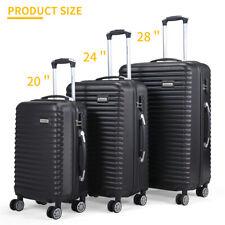 3 Pcs (20'' 24'' 28'')Travel Luggage Suitcase Big Storage Capacity Light Weight