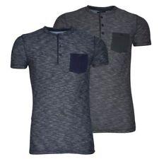Cotton Henley Short Sleeve Basic T-Shirts for Men