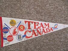 1981 SIGNED Canada Cup Pennant.  Approx. 50 signatures!