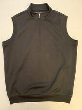 Pebble Beach 1/2 Zip Performance Golf Vest Men's Medium Black Nice!