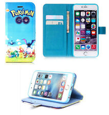 For iPhone 5 5S 5SE Very Happy Pokemon Go Pikachu Wallet Stand Flip Case Cover