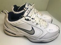 Nike Air Monarch Mens Tennis Shoes Size 13 Wide White Lace Walking Comfort