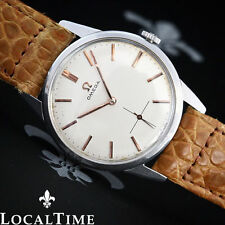 Stainless Steel Genuine Leather Strap OMEGA Wristwatches