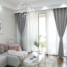 Imitation linen Modern Curtains Living Room Shading Cloth Thermal Insulated^,