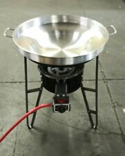 22 inch Round Disc Wok Taco Stand Griddle Grill Comal Wok With Burner & Stand