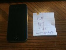Black 4th Gen iPhone -- Model A1387 -- Unknown GB -- SOLD AS IS -- Listing#17