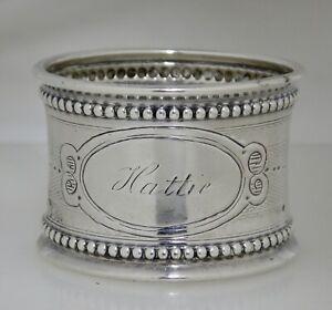 Antique Sterling Silver Hattie Napkin Ring - 82384