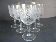 New listing Vintage Rhein Kristoll Cross Cut Crystal Goblet (set of 6) made in Germany
