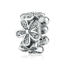 Authentic Pandora Dazzling Daisies Spacer Bead Clear CZ Charm 792053CZ Spring