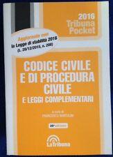 Codice Civile e di Procedura Civile e Leggi Complementari F Bartolini La Tribuna