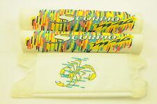 "Vecchia Scuola Bmx 3 PEZZI ""SCORPIO MAG"" Bianco Pad Set NOS made in ANNI 1980"