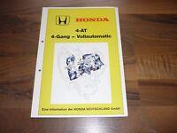 Honda 4-AT 4-Gang Vollautomatik Getriebe Kundendienstschule WERKSTATT HANDBUCH